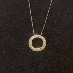 925 LA Mother Daughter Friend Pendant Necklace